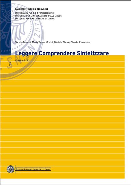 Cover of Leggere Comprendere Sintetizzare