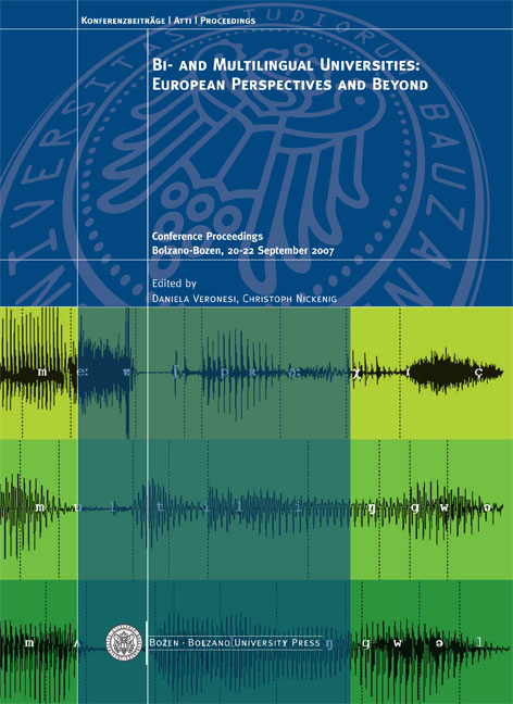 Cover of Bi- and multilingual Universities: European perspectives and beyond