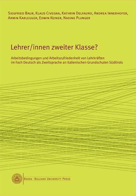 Cover of Lehrer/innen zweiter Klasse?
