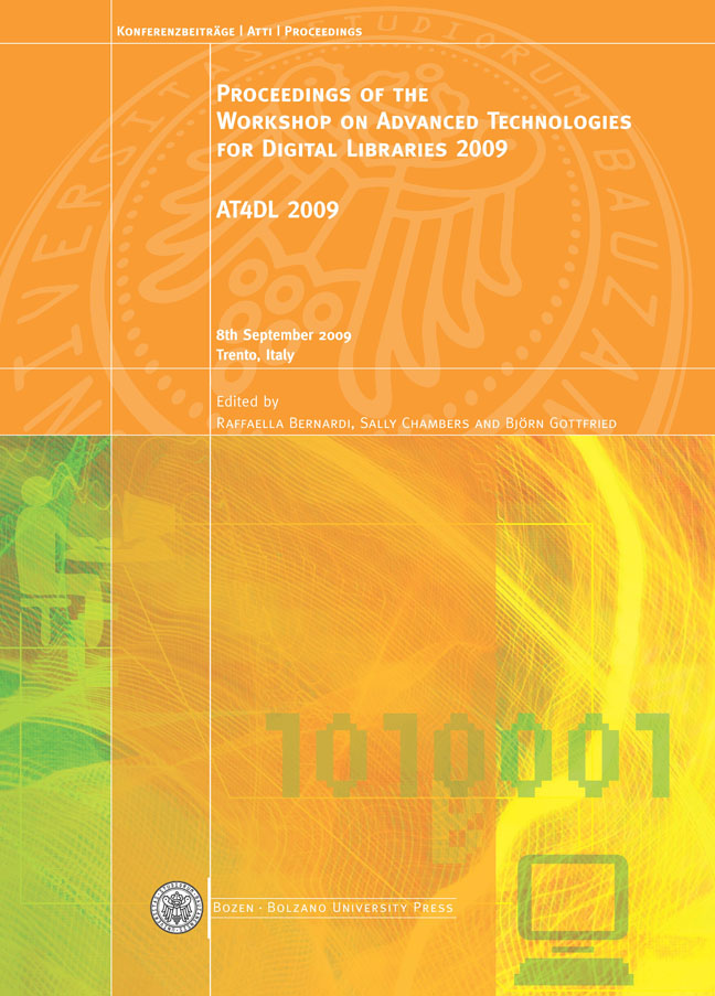 Cover of Proceedings of the Workshop on Advanced Technologies for Digital Libraries 2009