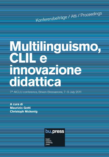 Cover of Multilinguismo, CLIL e innovazione didattica