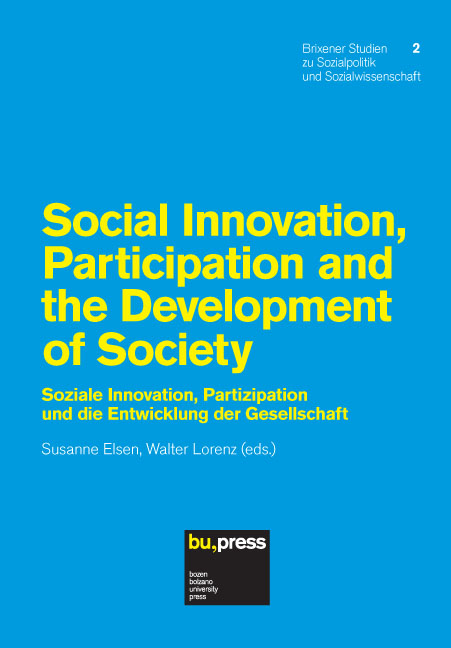 Cover of Social Innovation, Participation and the Development of Society
