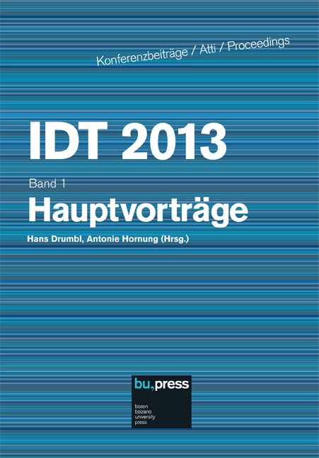 Cover of IDT 2013/1 Hauptvorträge