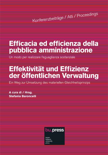 Cover of Efficacia ed efficienza della pubblica amministrazione