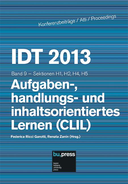 Cover of IDT 2013/9 Aufgaben-, handlungs- und inhaltsorientiertes Lernen (CLIL)