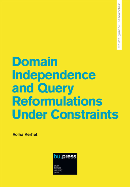 Cover of Domain Independence and Query Reformulations Under Constraints