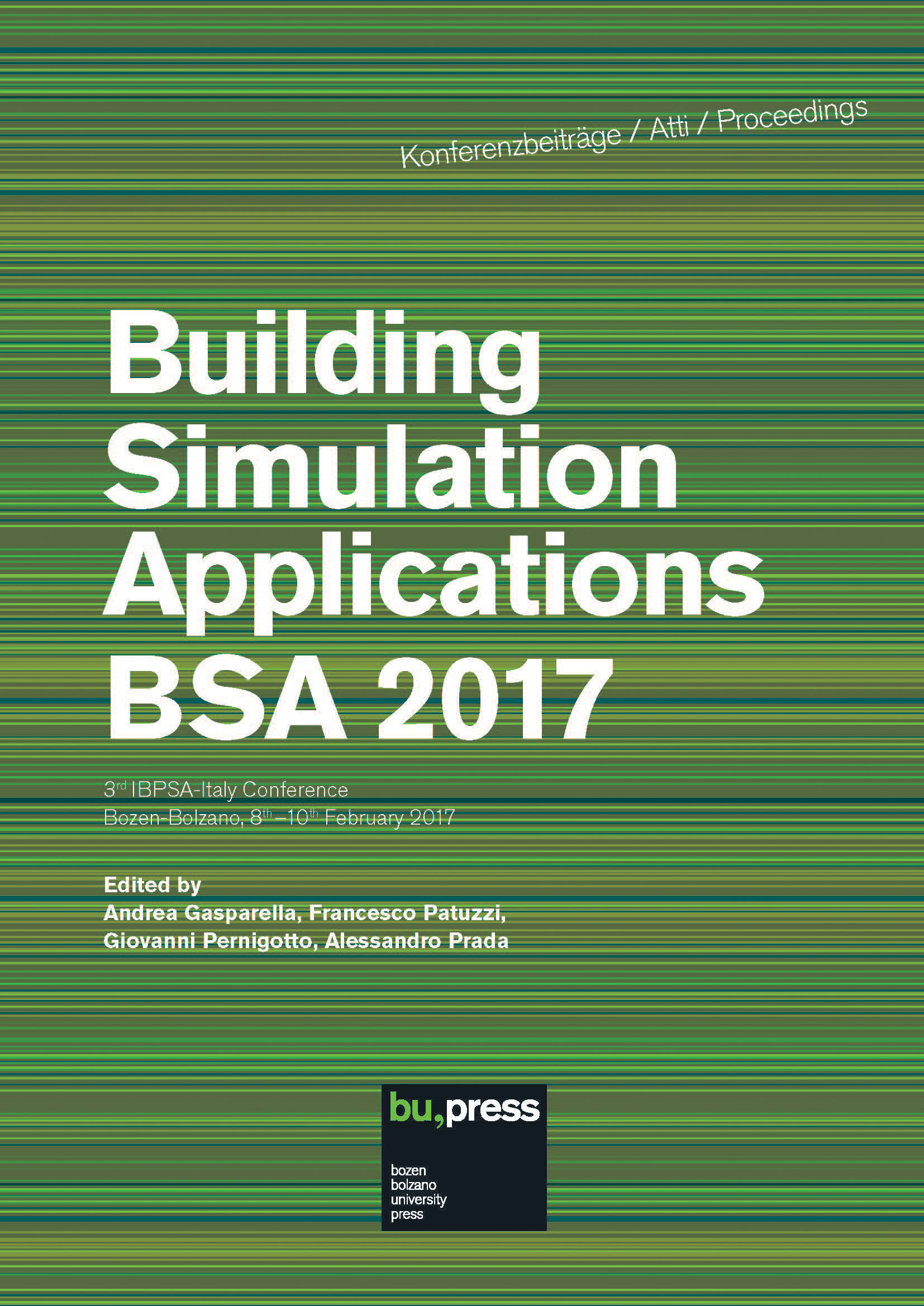 Cover of Building Simulation Applications BSA 2017