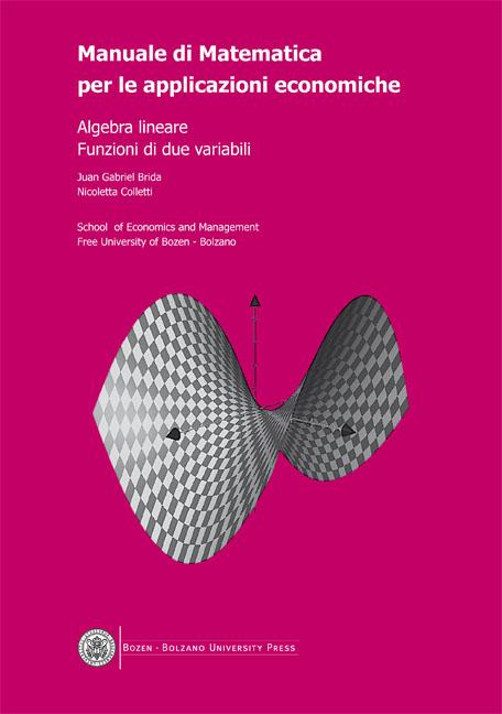 Cover of Manuale di Matematica per le applicazioni economiche 1