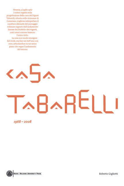 Cover of Casa Tabarelli 1968-2008