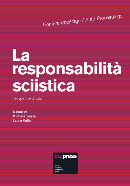 Cover of La responsabilità sciistica