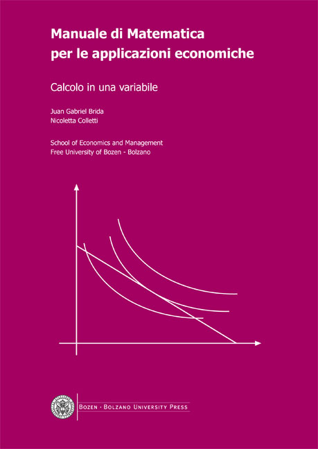 Cover of Manuale di Matematica per le applicazioni economiche 2