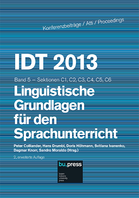 Cover of IDT 2013/5 Linguistische Grundlagen für den Sprachunterricht