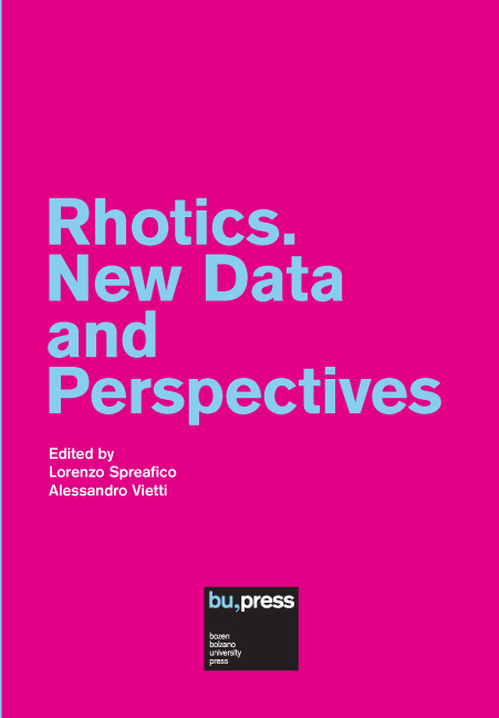 Cover of Rhotics. New Data and Perspectives