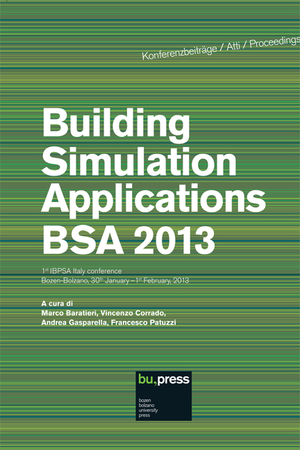 Cover of Building Simulation Applications BSA 2013