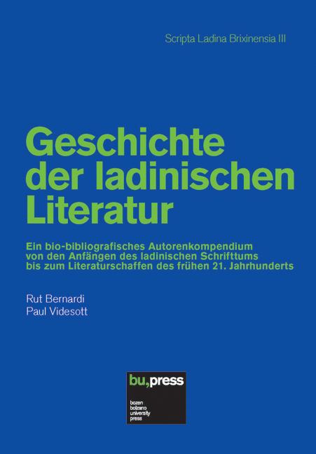 Cover of Geschichte der ladinischen Literatur