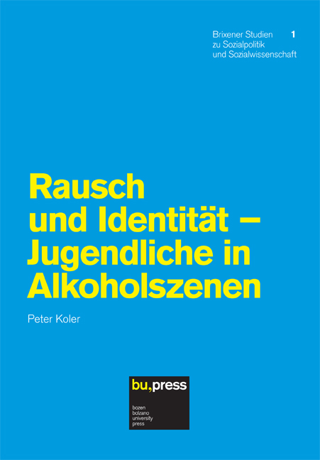 Cover of Rausch und Identität - Jugendliche in Alkoholszenen