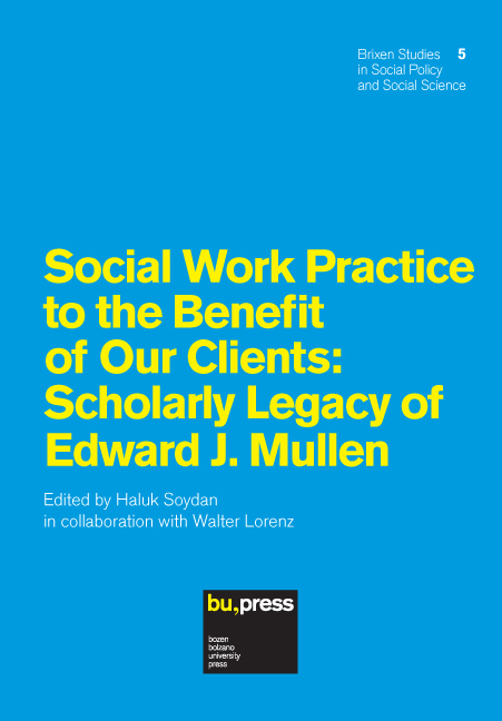 Cover of Social Work Practice to the Benefit of Our Clients: Scholarly Legacy of Edward J. Mullen