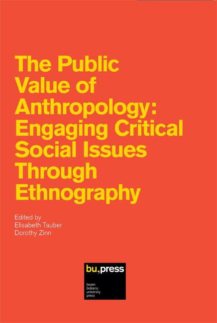 Cover of The Public Value of Anthropology: Engaging Critical Social Issues Through Ethnography