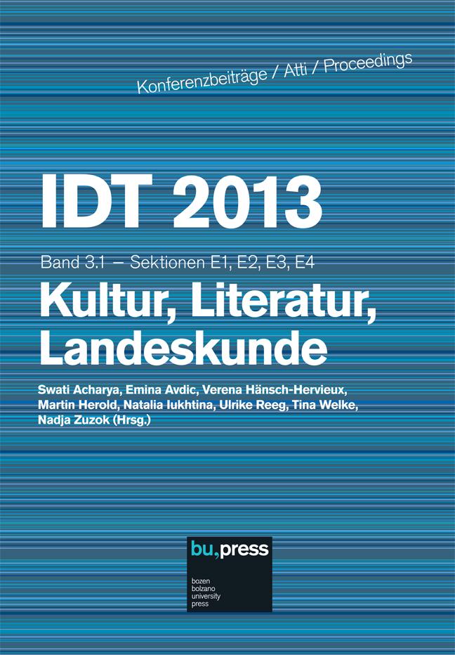 Cover of IDT 2013/3/1 Kultur, Literatur, Landeskunde