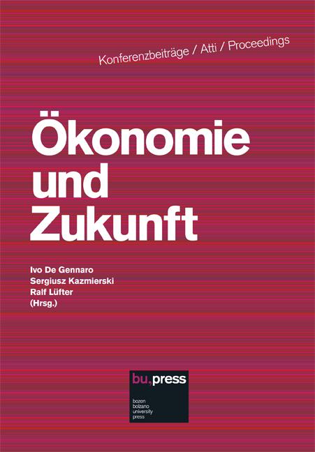 Cover of Ökonomie und Zukunft
