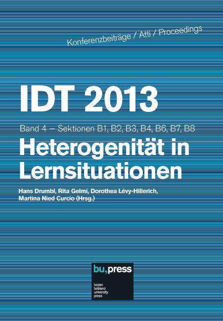 Cover of IDT 2013/4 Heterogenität in Lernsituationen