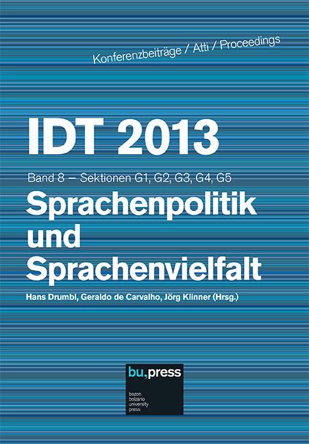 Cover of IDT 2013/8 Sprachenpolitik und Sprachenvielfalt