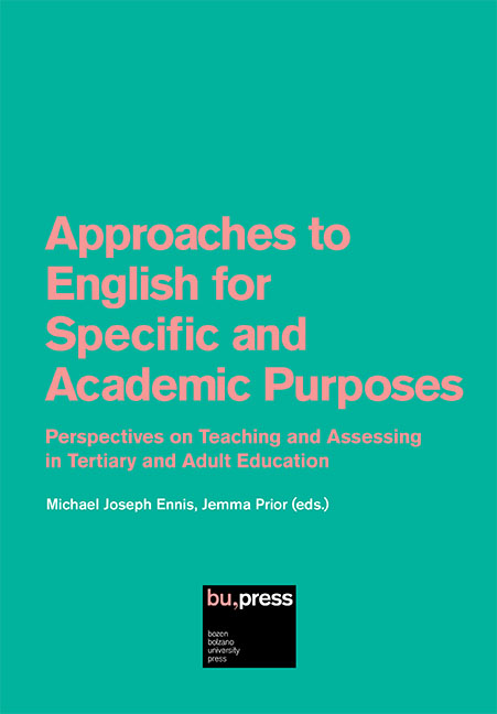 Cover of Approaches to English for Specific and Academic Purposes