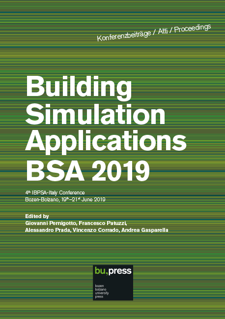 Cover of Building Simulation Applications BSA 2019
