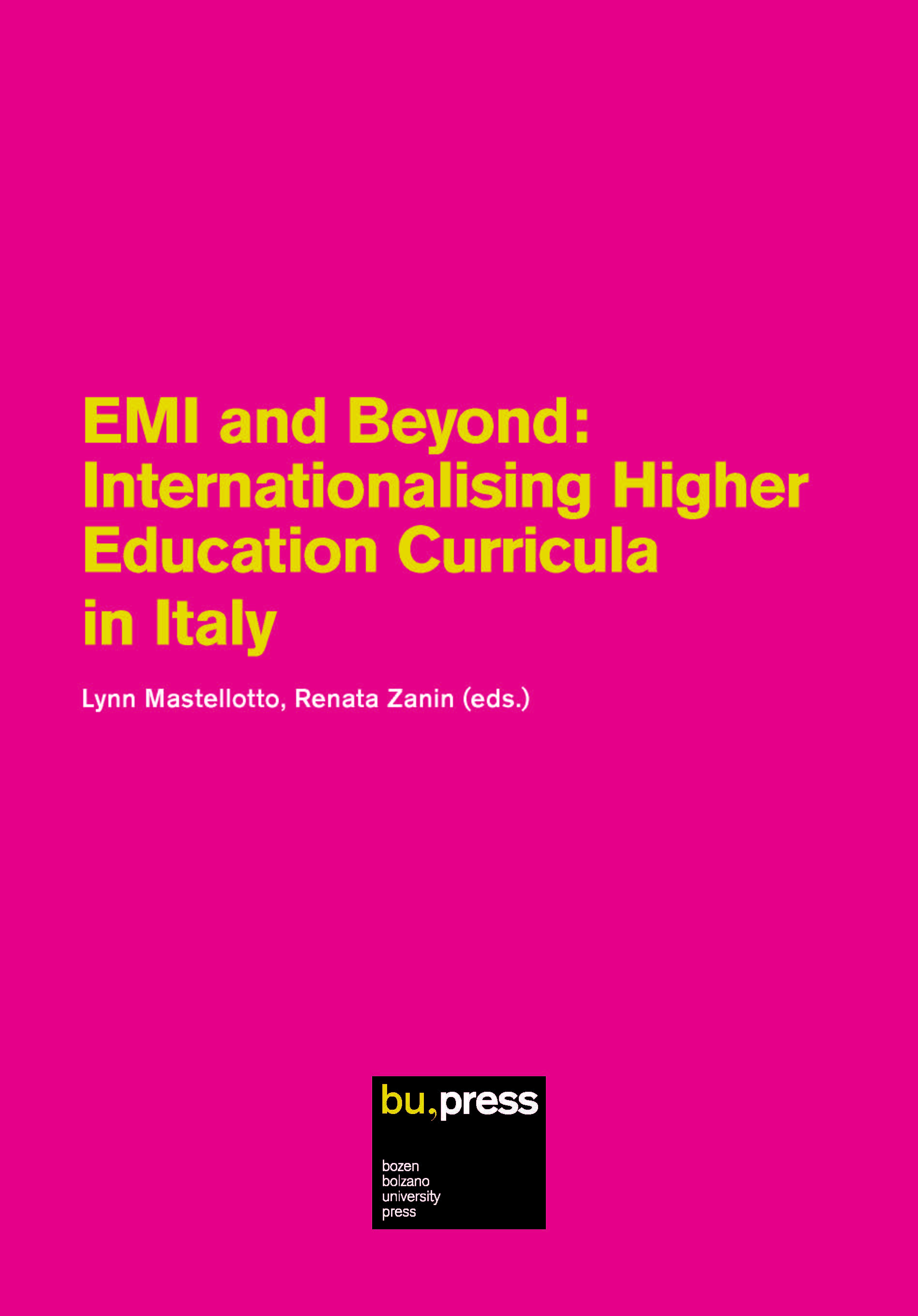 Cover of EMI and Beyond: Internationalising Higher Education Curricula in Italy