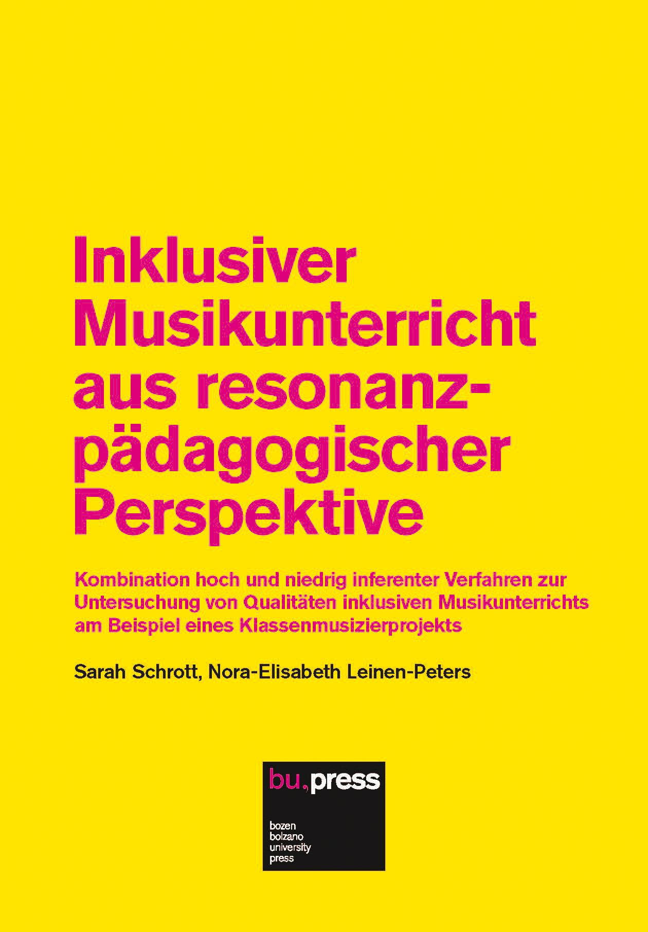 Cover of Inklusiver Musikunterricht aus resonanzpädagogischer Perspektive